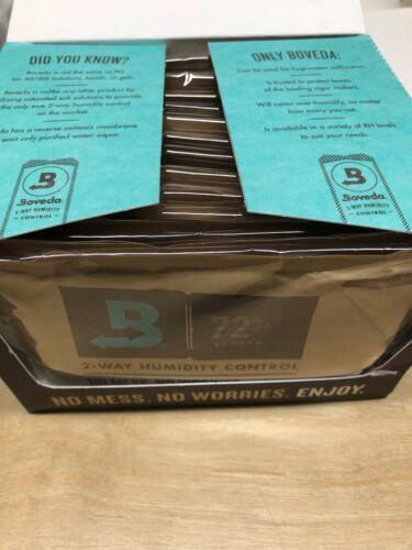 Boveda 72% 2-Way Humidifier Packs for Cigar Humidor - Box of 12 - 60 Gram - New