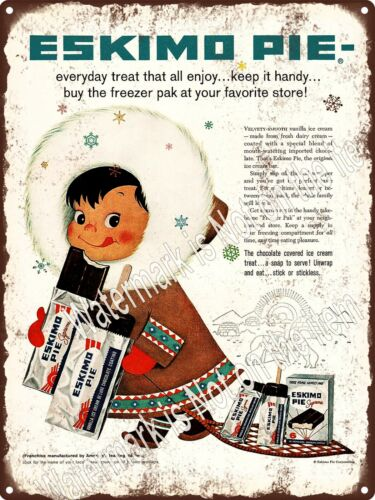 1958 Eskimo Pie Ice Cream Popsicle Ad Replica Metal Sign 9x12 A592