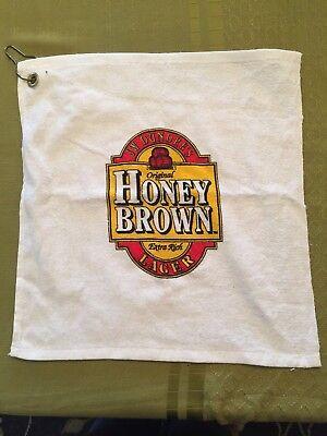 J W Dundee's  Vintage Beer Bar Towel  Pub Home Bar Honey Brown Lager