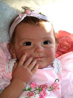 Used, 18inch Reborn Baby Dolls Realistic Cute Newborn Doll Lifelike Pink Toddler Girl for sale  USA