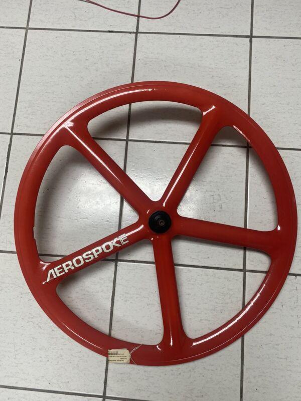 Aerospoke 700c wheel 5 spoke Carbon Composite Red Front wheel