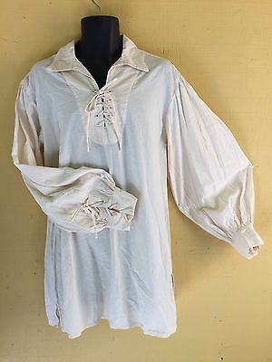 Renaissance Shirt Cotton  Highlander  Re Enactor  Sass  Cosplay  Steampunk  Sca