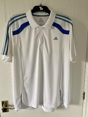 White Adidas Polo Shirt Golf Shirt Size XL Mens