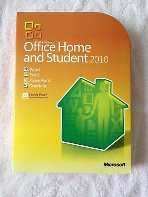 Microsoft Office 2010 Home And Student For 3Pcs 79G 02144 Retail Box New