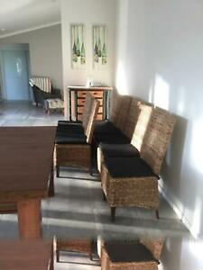 Dining table (1500 x 1500) and chairs