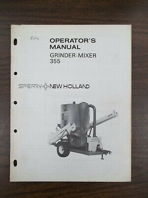 New Holland Grinder-mixer 355 Owners Manual