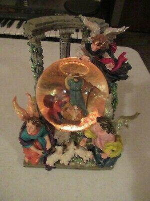 CHRISTOPHER RADKO NATIVITY LIGHT & MUSIC SNOW GLOBE