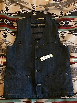Lee 101 Union Vest Kurabo Denim Alaska Workers Weste rugged Workwear selvage  gebraucht kaufen  Bochum