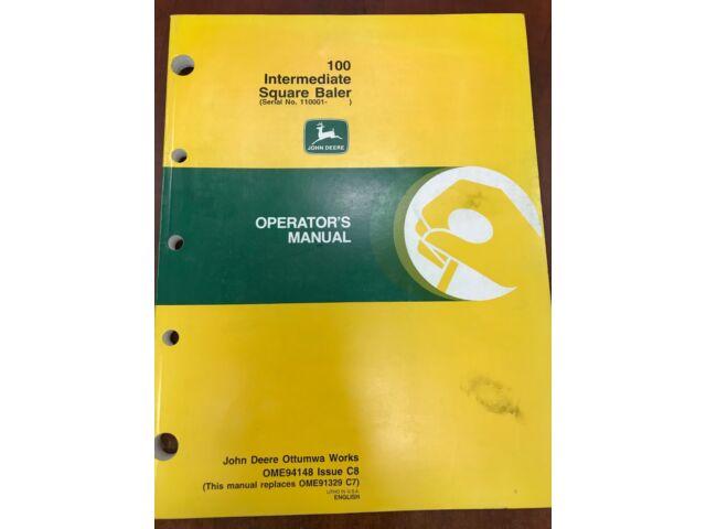 John Deere Operators Manual 100 Intermediate Squar