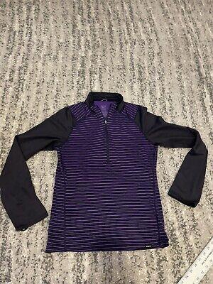 patagonia 1/4 zip pullover mens small purple
