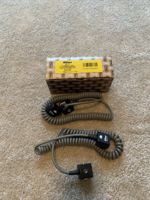 Nikon SC17 TTL Remote Cord One New And One Used (Quantity-2)