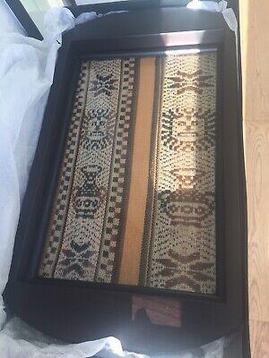Decorative Tray- Peruvian Vintage Wooden Tray In Box