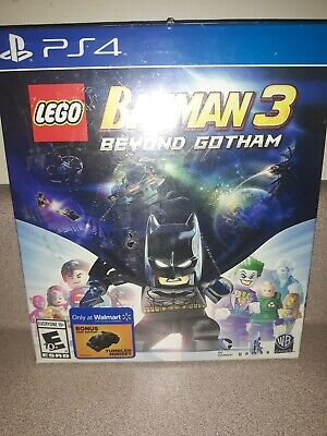 Lego Batman 3 Beyond Gotham (Playstation 4, 2014) PS4 NEW BatWing Lego miniset