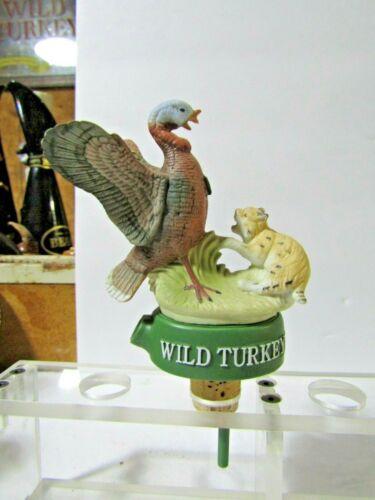 RARE Wild Turkey & Bobcat Figural Whiskey Pourer