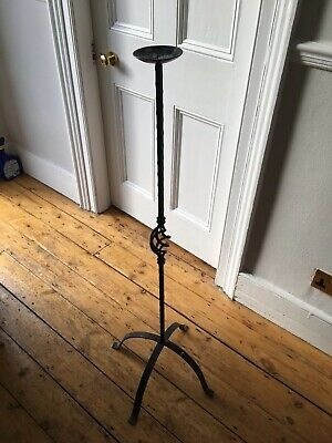 Floor Standing Wrought Iron Candle Holder