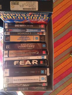 PC games w/manuals and cd keys