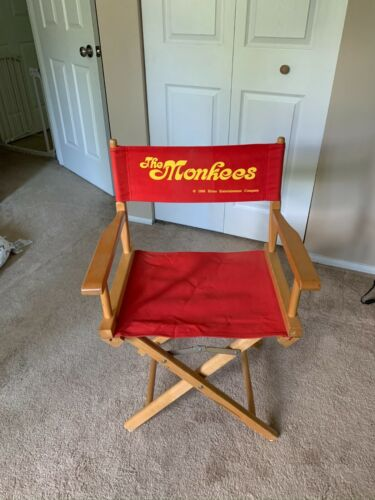 The Monkees Red Canvas Folding Directors Chair (1998, RHINO)
