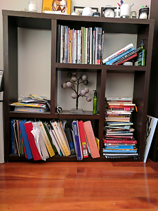 Dark Brown Square bookshelf with unique design Canley Heights Fairfield Area Preview