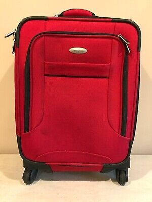 "Samsonite 1910 Red Soft Side Expandable 21"" Spinner Suitcase Travel Bag"