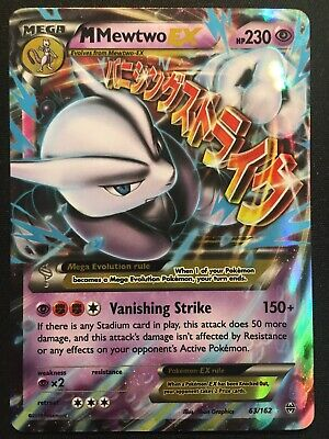 M Mewtwo EX 63/162 XY Breakthrough - Ultra Rare Pokemon Card - LP/MP