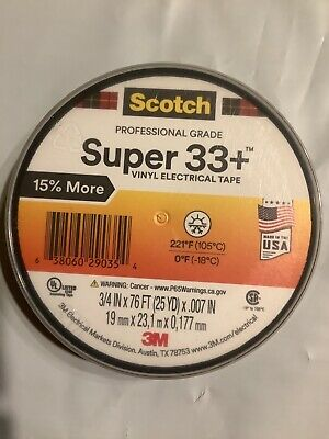 Scotch Super 33 Vinyl Electrical Tape 34 In X 76 Ft Black Free Shipping