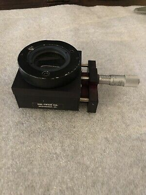 Del-tron Co.. Linear Translation Optical Stage Positioner W Starrett Micrometer