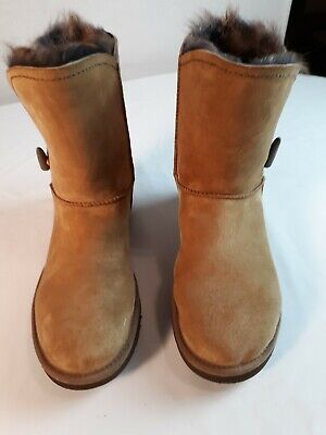 Ugg Lined Tan Women's Boots Size 10 Pre Owned