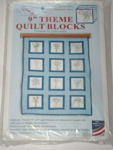 "JDNA Jack Dempsey 9"" Theme Quilt Blocks #737-650 ANTIQUE JARS"