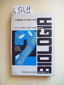 AUTORI VARI - BIOLOGIA - FRATELLI CONTE EDITORI - 1972 - Italia - L'oggetto può essere restituito - Italia