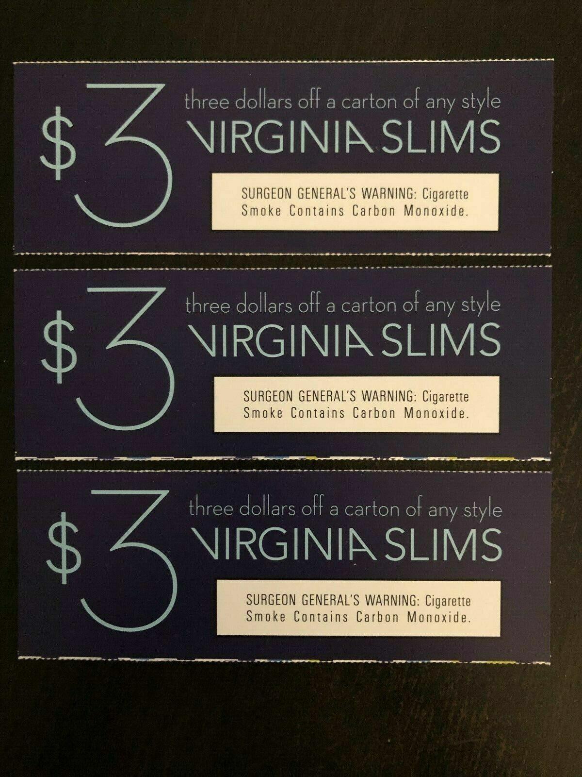 3 X 3 Off A Carton Of Virginia Slims a 9 Value  - $4.50