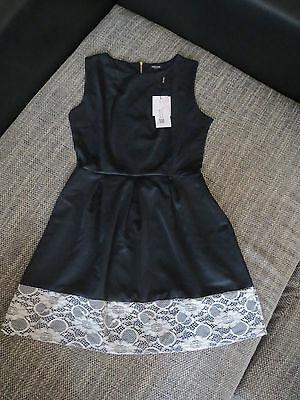 ACEVOG Damen Kleid Elegant Ärmellos Rundhals Sommerkleid Gr 36 - Versand sofort