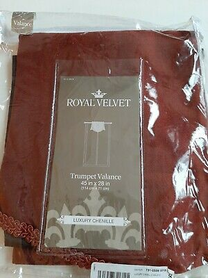 Royal Velvet Chenille Trumpet Valance 45 W x 28 L Cinnamon -