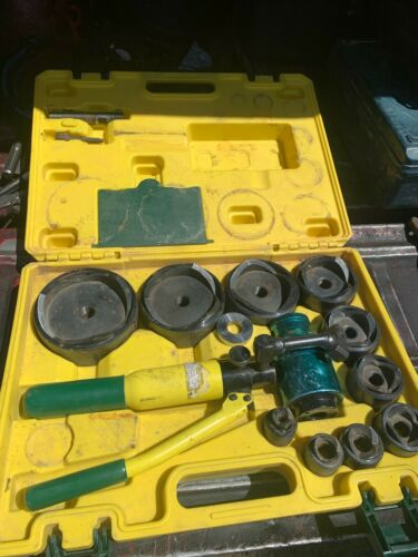 """L.H. Dottie hydraulic knock out set up to 4"""" dies"""