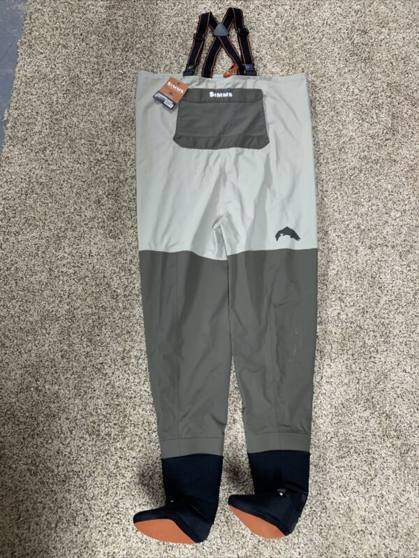 SIMMS FREESTONE STOCKINGFOOT WADER MINERAL Size LARGE Free Shipping! SEE DESC...