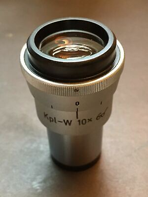 One Used Zeiss Microscope Focusable Eyepiece Kpl-w 10x High Point