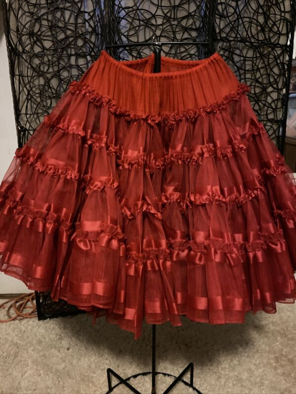 Beautiful Red Super Full Crinoline/ Petticoat