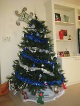 Christmas Tree with Decorations, Tinsel & LED Lights Brighton East Bayside Area Preview