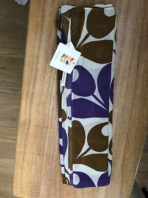 New Rare Orla Kiely X Uniqlo Tulip Flowers Scarf Stole In Purple & Brown retro