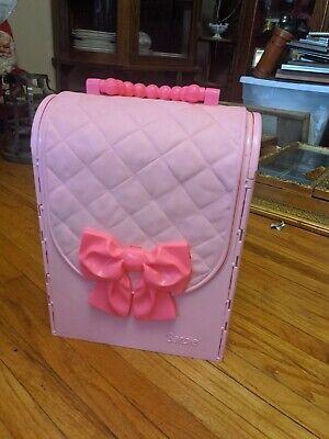 Barbie Folding House Fold & Go Travel Carry Case with Bedroom & Bath 1998 Mattel