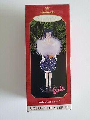 Hallmark Barbie Gay Parisienne Bubble Dress 6th Christmas Ornament New In Box