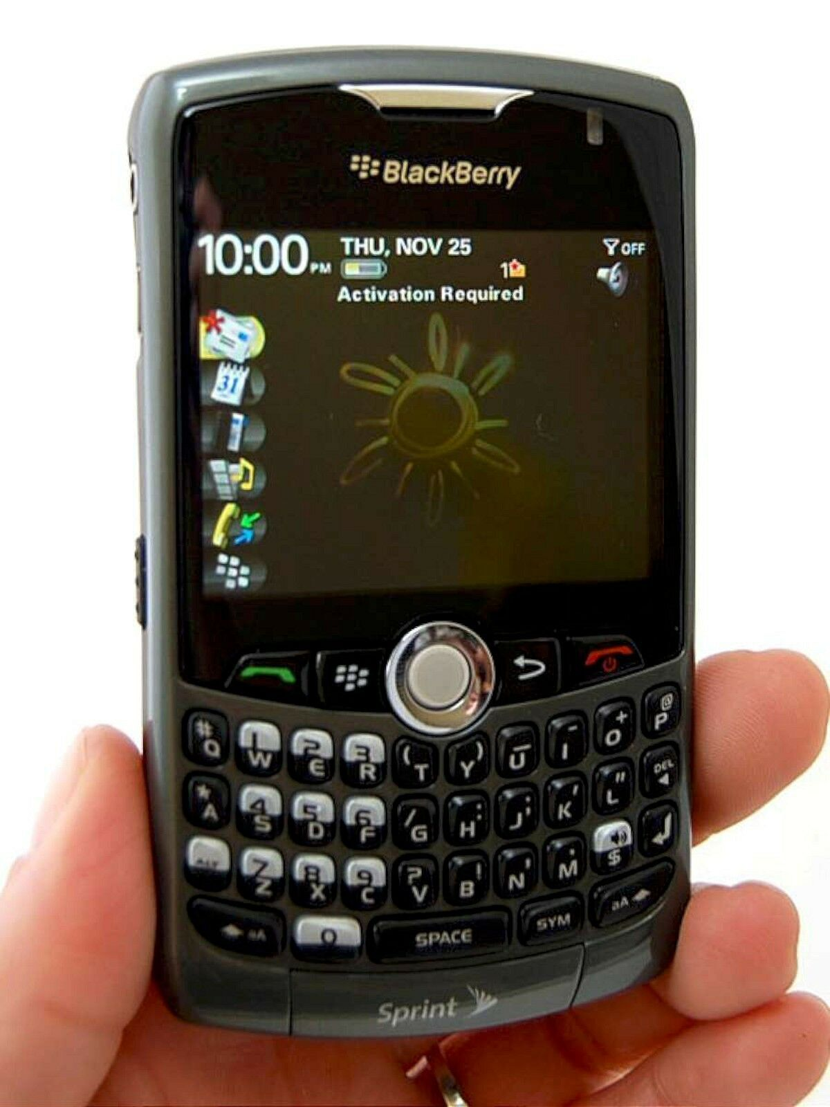 new blackberry curve 8330 sprint 3g cell phone titanium gray rim rh ebay com Sprint BlackBerry Curve Phones Sprint Smartphones
