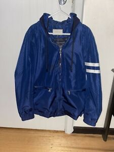 Gucci GG Blue Zipper Jacket (with pockets and hood)