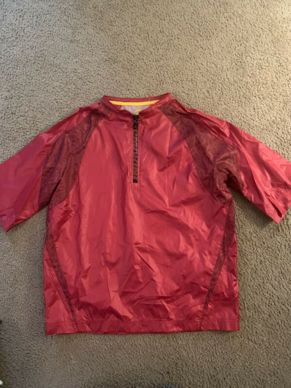 DeMarini batting pullover jacket Shirt L Youth sports performance baseball zip