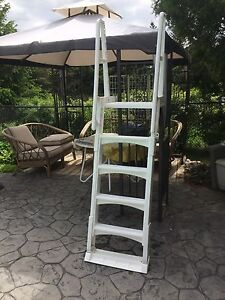 Pool ladder with adjustable height