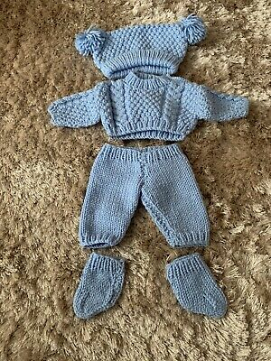 hand knitted dolls clothes 12/14 Inch