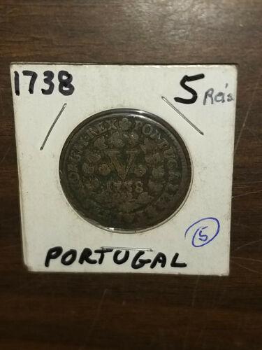 Coin - Europe - Portugal - 1738 - 5 Reis - VF