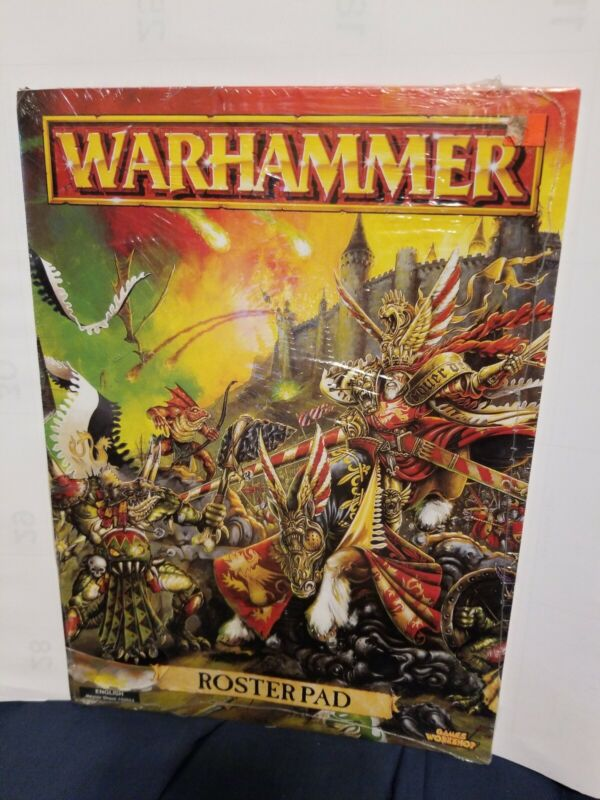 Warhammer Fantasy 5th Edition Roster Pad SEALED unused English 102645 MAKE OFFER
