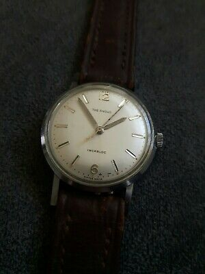 "VINTAGE ""THE ANGUS"" MECHANICAL 17 JEWELS INCABLOC MEN'S WATCH. WORKING."