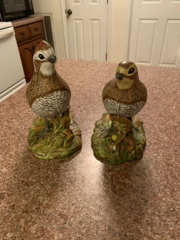 Two Vintage Holland Mold Quials