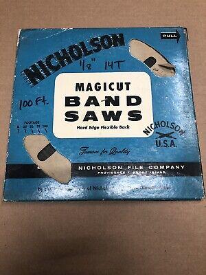 Nicholson Usa Band Saw Blade Coil 18 X .025 X 14t Raker New Old Stock